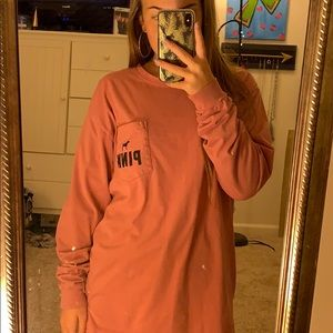Long sleeve PINK shirt in a dusty rose color
